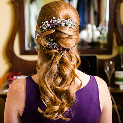 Hair Pieces, Niagara Wedding Flowers
