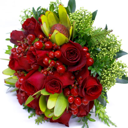 Wedding Flowers, Niagara Florists, Red