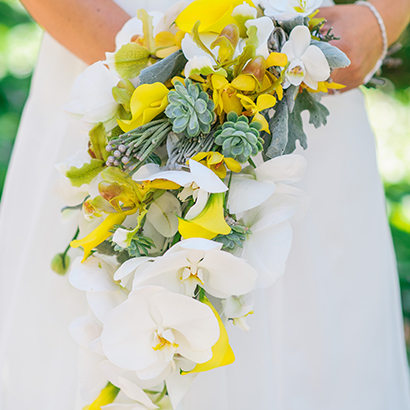 Wedding Flowers, Niagara Florists, Yellow